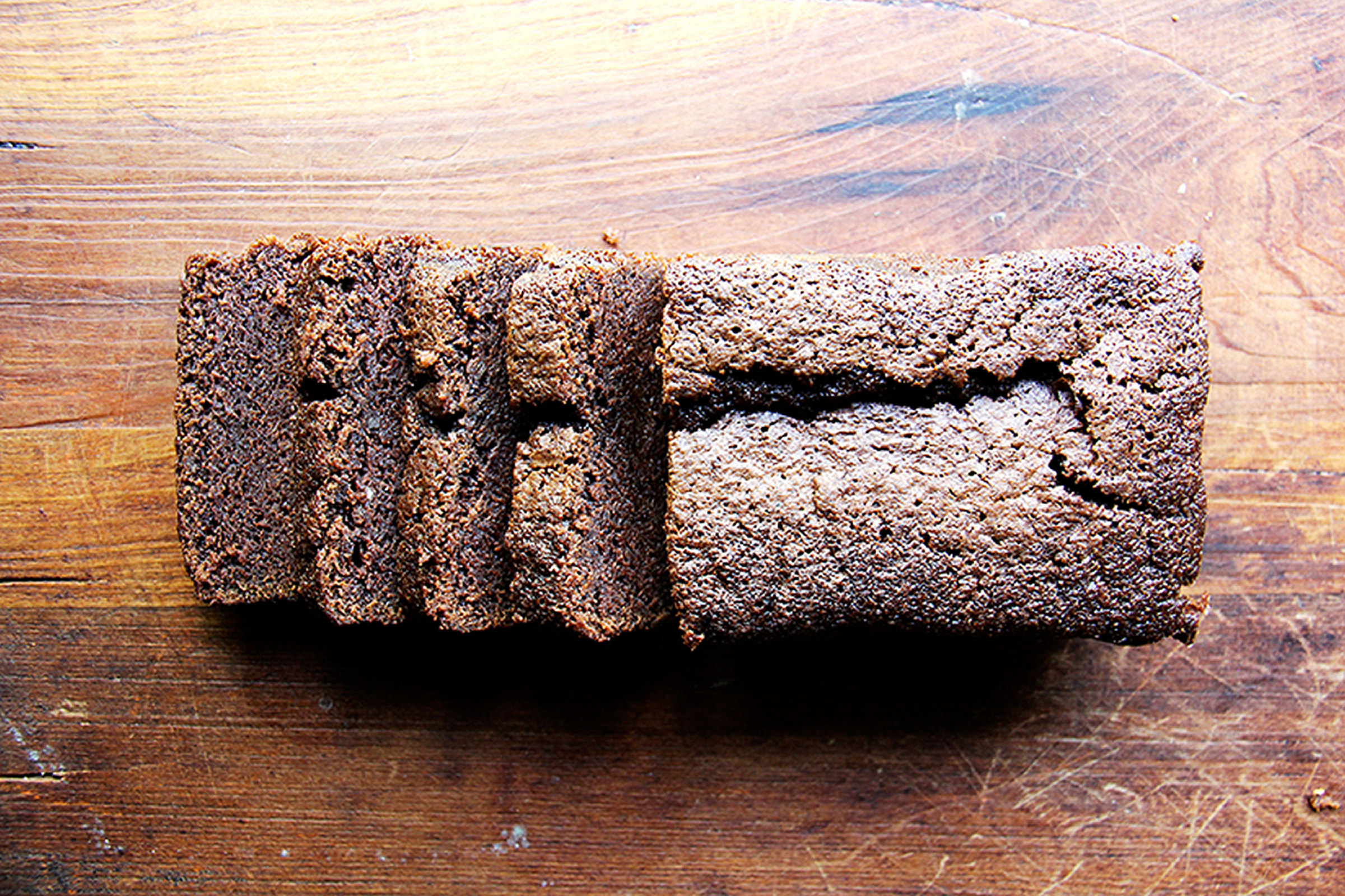 Dense Chocolate Loaf Cake with Bourbon and Coffee