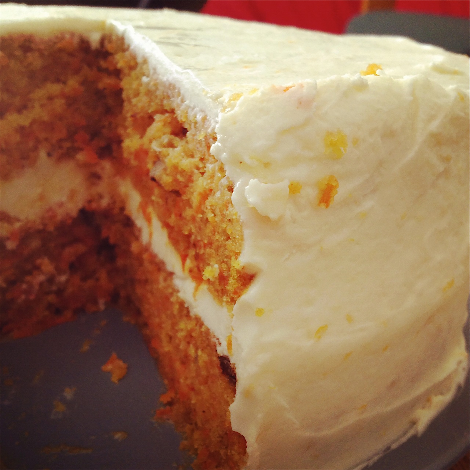 Carrot Cake with Orange-Cream Cheese Frosting