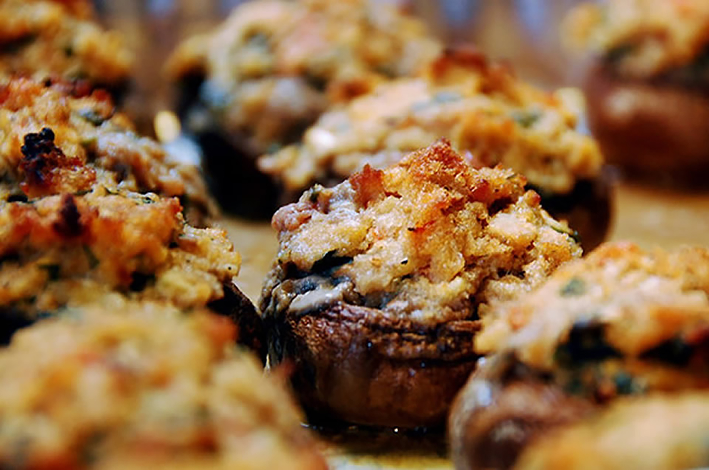 Creamy Herb-Stuffed Mushrooms